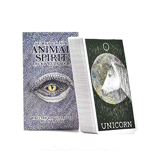 Findema 78 Gute Tarotkarten - Der Wilde unbekannte Tiergeist Deck-Führer, Brettspielkarte
