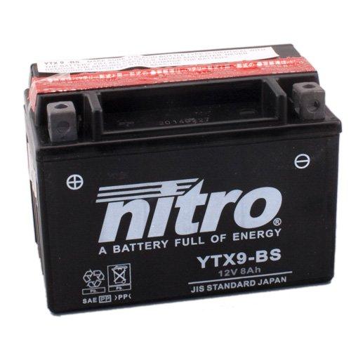 Batterie Nitro YTX9-BS, 12V/8AH (Maße: 150x87x105) für Kawasaki Z750/S Baujahr 2004