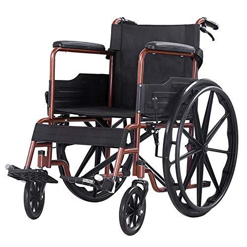 SSLL Leichtgewicht Klappbarer Reise Rollstuhl Ultraleichter RollstüHle Mit Bremsen Selbstantrieb Sitzbreite 45 cm Reiserollstuhl Transportrollstuhl FüR äLtere Und Behinderte Menschen,B