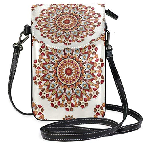XCNGG Bohemian Cell Phone Purse Wallet for Women Girl Small Crossbody Purse Bags