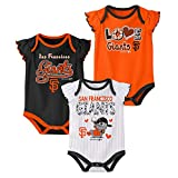 Outerstuff MLB Newborn 3pk Onesie Set, San Francisco Giants 0-3 Months