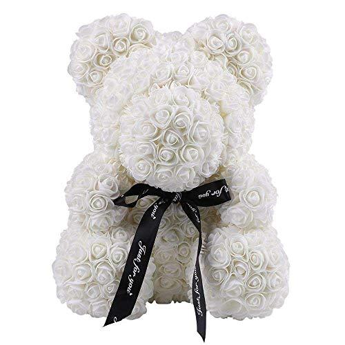 Urso flor do urso Teddy Bear Rose Homvare Teddy Bear Rose - presente para o Dia das Mães, Dia dos Namorados, um amado, aniversário, chuveiros nupciais e casamentos Limpar Gift Box 14 polegadas