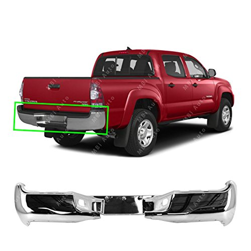 MBI AUTO - Chrome, Steel Rear Bumper Face Bar Shell for 2005-2015 Toyota Tacoma 05-15, TO1102240