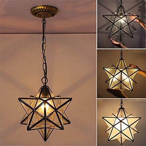 SUPRIEE LED Vertiefte Deckenleuchte Herrnhuter Stern Glaspendelleuchte Kronleuchter Licht Moderne Deckenleuchte Fixture-Dekor (Farbe : Crystal, Größe : 11.81