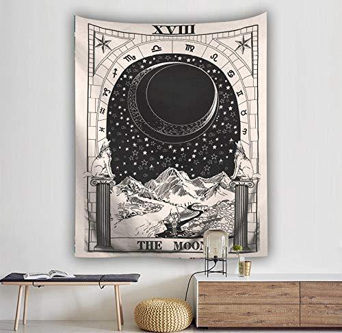 renqiancun Mysterieuze Tarot wandtapijt opknoping kunst home decoratie maan ster zon middeleeuwse Europese waarzeggerij Camping Tent Travel Mattrice