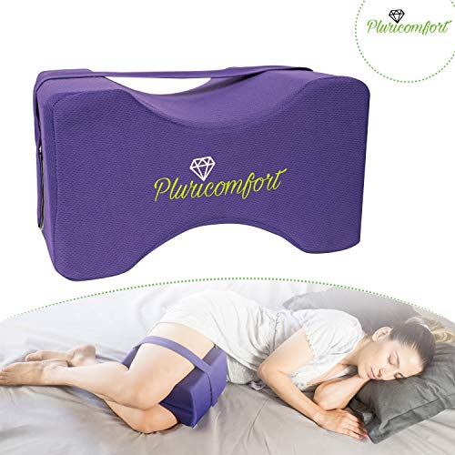 Pluricomfort Almohada para Piernas para Dormir. Alivia el Dolor de Cadera y Espalda. Cojin para Dormir de Lado Entre Las Piernas.