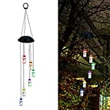 FeiliandaJJ Deko Lichterkette Farbwechsel LED Solar Windspiel Licht Drift-Flaschen Licht Outdoor Hängeleuchte für Garten Hochzeit Party Fenster (Grün)
