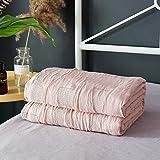 LIFUQING Leaf Pink Thread Handtuch Decke Sommer Strick Quilt 150X200Cm / 200X230Cm Baumwollgewebe