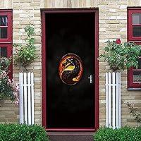 ドアステッカー3Dドアステッカー取り外し可能な防水DIYドア、寝室、リビングルーム、オフィス、オフィス、バスルームなどに適しています。PVC粘着ドア壁サイズ(蛇口)77X200CM