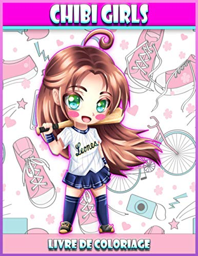 Chibi Girls Livre De Coloriage: Livre de coloriage Pour les enfants avec des personnages adorables Kawaii, dessins animés de mangas féminins   Livre de coloriage des filles Chibi
