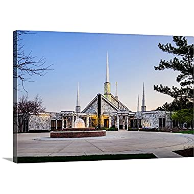 greatBIGcanvas Gallery-Wrapped Canvas entitled Chicago Illinois Temple Entrance, Glenview, Illinois by Scott Jarvie 30 x20