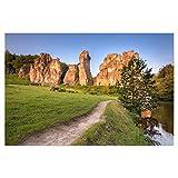 artboxONE Poster 45x30 cm Natur Externsteine im Morgenlicht