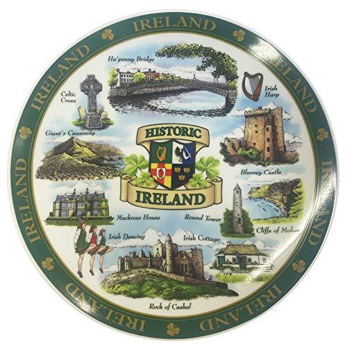 Carrolls Irish Gifts Ireland Designed Ceramic 20Cm Plate of Famous and Historic Landmarks