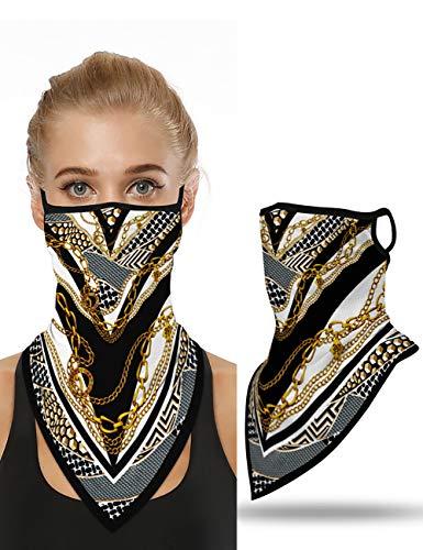 CHICME Multifunktionstuch Gesichtsmaske Druck Muster Gesicht Bandana Kopftuch Winddicht Nahtlose Halstuch Ohrbügel Outdoor Maske Stil 40
