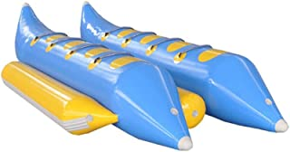 JYNselling Inflatable Flying Fish 8 Person Seat Banana Boat Raft Towable Tube Float + Blower