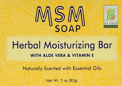 At Last Naturals/Lucky Tiger Pain de savon hydratant à base de MSM et d'extraits de plantes - 90 ml