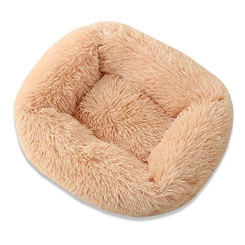 43-66cm New Super Soft Hundebett Haus Hundematte Plüsch Katzenmatte Katzen Nest für große Hunde Bett Labradors Haus rundes Kissen 43x35x20 Champagner