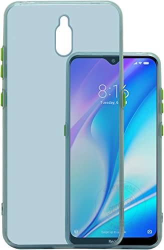 Jkobi Translucent Smoke Flexible Soft Back Case Cover For Xiaomi Mi Redmi 8A Dual Light Weight Shockproof Hightlighted Buttons Ice Blue