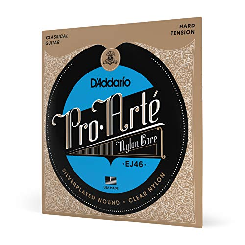 DAddario EJ46 ProArte Nylon Classical Guitar Strings Hard Tension