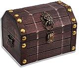 Brynnberg Caja de Madera Lionshead S 22x16x16cm - Cofre del Tesoro Pirata de...