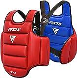 RDX Protector de Pecho TKD Protección De Cuerpo MMA Boxeo Vientre para Pecho Peto Taekwondo (Reversible)