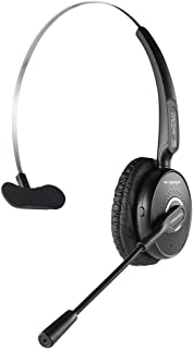 Promate Wireless Bluetooth Headset, Professional Unified Communication Over the Head headphone with Noise Cancelling Mic, ...