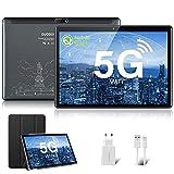Tablet 10.1 Pulgadas Android 10.0 | Tableta 5G WiFi Ultrar-Rápido Quad-Core 1.6GHz 4GB RAM + 64GB ROM | Pantalla HD IPS | Cámara Dual | Bluetooth | MicroSD 128GB Type-C Google GMS (Gray)