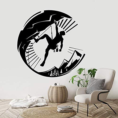 ASFGA Etiqueta de la Pared de Vinilo de Escalada en Roca Estilo de Deportes Extremos Home Boy decoración del Dormitorio Etiqueta de la Pared de Escalada extraíble Escalador Arte Cartel 126x123cm