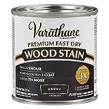 Varathane 269400 Premium Fast Dry Wood Stain, Half Pint, Ebony