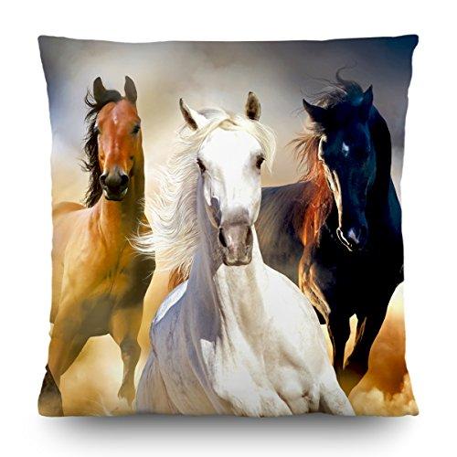AG Design Pferde Kissen, Stoff, Mehrfarbig, 45 x 45 cm