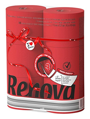 Renova Red Label Maxi Toilet Paper, Red