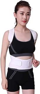 HOBULL Men Women Back Brace Posture Corrector Adjustable Elastic Straps for Slouching Hunching Shoulders Clavicle Support