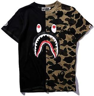 GoldBucket 1201-Unisex Bape Green Camo Shark Teenage Adult Fashion T-Shirts
