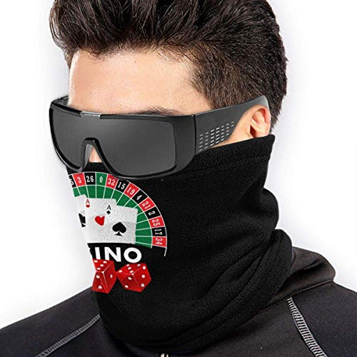 BOKUTT Adjustable Cover Face cover,Casino Gambling Neck Gaiter Warmer Headwear for,Fashion Anti-Dust Washable Face covering cover