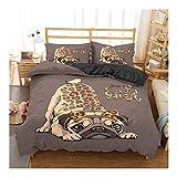 キルト 漫画のパグ犬寝具はパグ犬のベッドセット羽毛布団カバーセットキングクイーンサイズの布団寝具セットベッドリネンを設定します。 すべての家族 (Color : CD281 6, Sheet Type : Duvet cover)