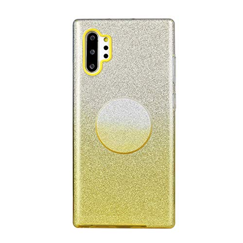 Nadoli für Huawei P30 Pro Gradient Glitzer Hülle,3 Schicht Glänzende Stoßfest Silikon Stoßdämpfung Transparent Hart Hybride Dünn Glitzer Schutzhülle Handyhülle mit Ständer