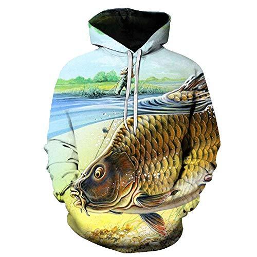 MEN.CLOTHING-LEE Unisex 3D Hoodie Neuheit Personalisiertes Sweatshirt Pullover Kapuzen Stretch Hoodie Big Fish digital Printing 3XL