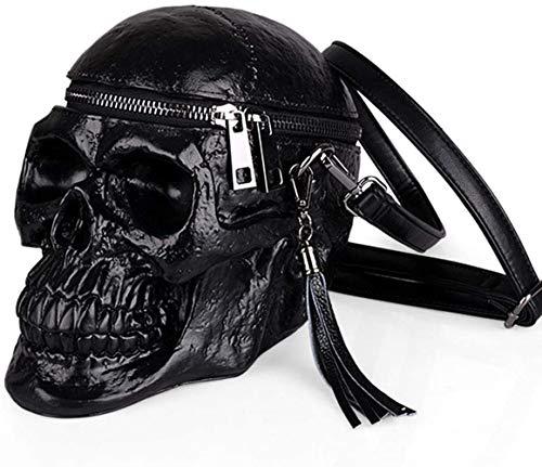 Bandolera unisex estilo punk gótico con cabeza de calavera estilo steampunk