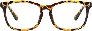 Cyxus Blue Light Blocking Glasses for Women Men UV Filter Square Frame Computer Gaming Reading Eyeglasses Anti Eye Strain Headache Better Sleeping (Crystal, 53mm)
