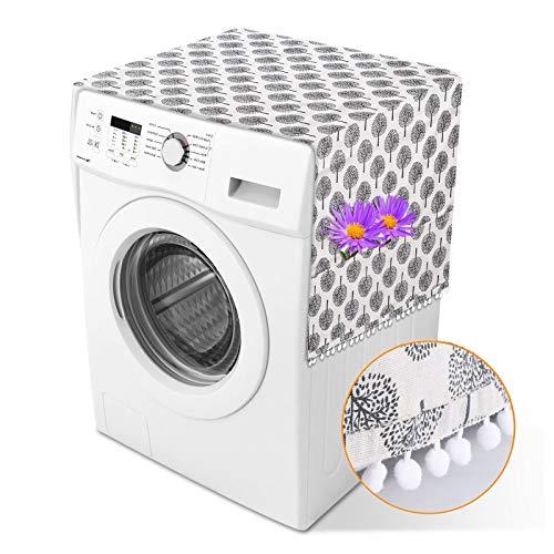 Herefun Cubierta Polvo Refrigerador Cubierta de Polvo Superior del Refrigerador Fundas para Secadora Lavadora, Bolsa de Almacenamiento Protector Multiusos de Guardapolvo Refrigerador Protector