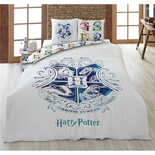 Harry Potter Parure da letto per 2 persone, copripiumino 200 x 200 cm + 2 federe 65 x 65 cm, 100% cotone