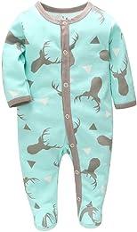 Pyjama Bébé Fille Garçon Grenouillère Combinaisons