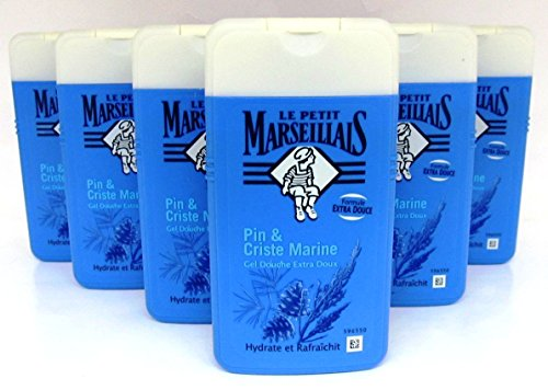 Le petit Marseillais Duschmittel Pin & Criste Marine, Kiefer und Meerfenchel, 6 x 250 ml
