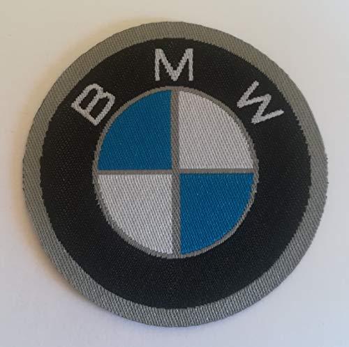 CENTRO RICAMI RICAMIFICIO INDUSTRIALE ITALIANO DAL 1989 Patch-Toppa Microricamata in HD/Jacquard (Alta Definizione) Logo BMW Termoadesiva, Micro Filo, Diametro : cm. 6 - Made in Italy