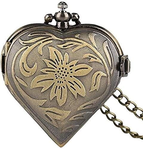 Bronze Bronze Bronze Pocket Watch Bronze Shape Strange Shape Stakes Watch Vintage Vintage chainpunk Pendant Chain Love Gift Gift Men Women