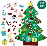 TATAFUN Feltro Albero Natale, 3.2FT della Feltolta di DIY con 26 Ornamenti Staccabili Rega...