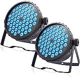 BETOPPER luces dj luz discoteca 54x3W RGB 150W 3/7 CH Control de sonido/DMX luz de escenario para iglesia, fiesta, boda, iluminación de club (2 piezas)