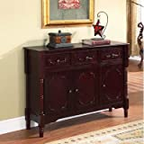 InRoom Designs Console Table Finish: Black