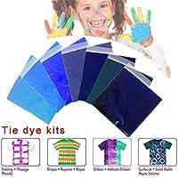 ネクタイ染料DIYキット、7色のシャツ生地ネクタイ染料非毒性無臭混合可能な明るい色のネクタイ染料キットシャツ生地染料DIYの子供たちの家族の友人のための服の落書き染料