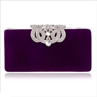 DIEBELLAU Ladies Fashion Dinner Bag Crown Banquet Bag Evening Dress Clutch Bag (Color : Purple, Size : XS)